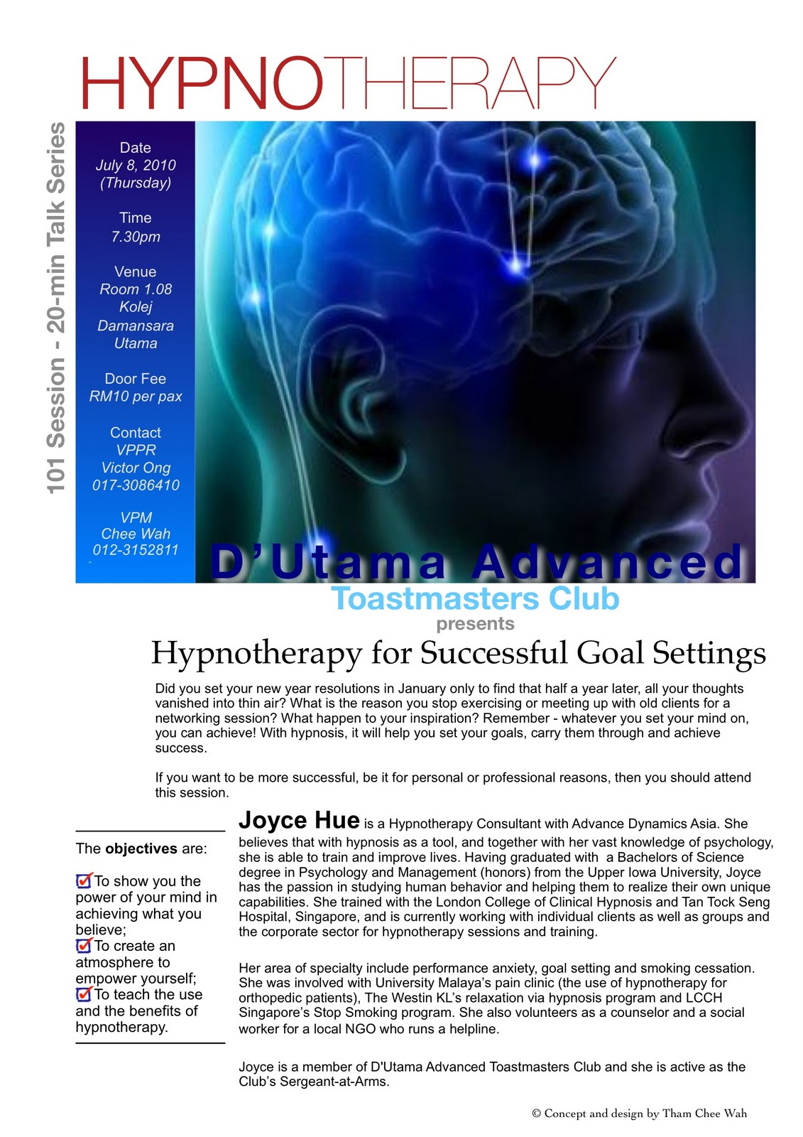 D'Utama Advanced Toastmasters Club: Hypnotherapy for ...