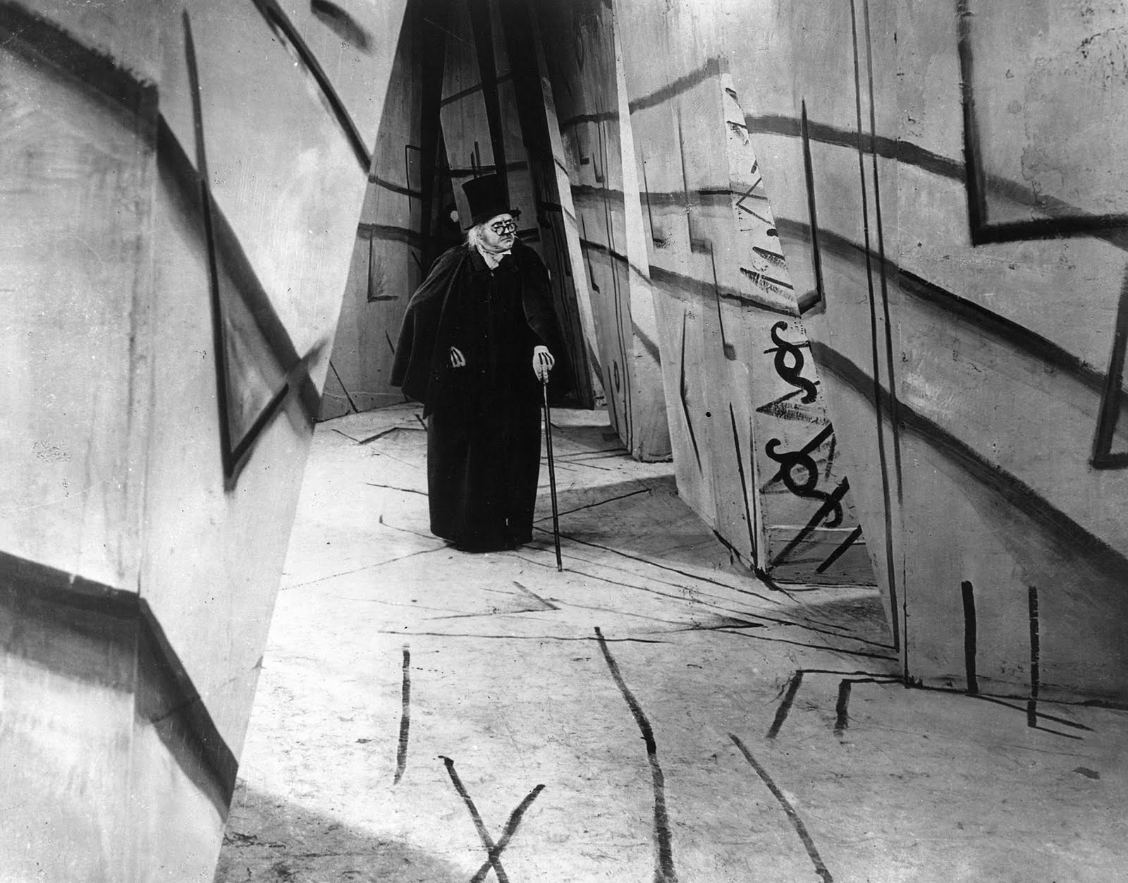 the cabinet of dr caligari on white walls gilbert garcin 27140