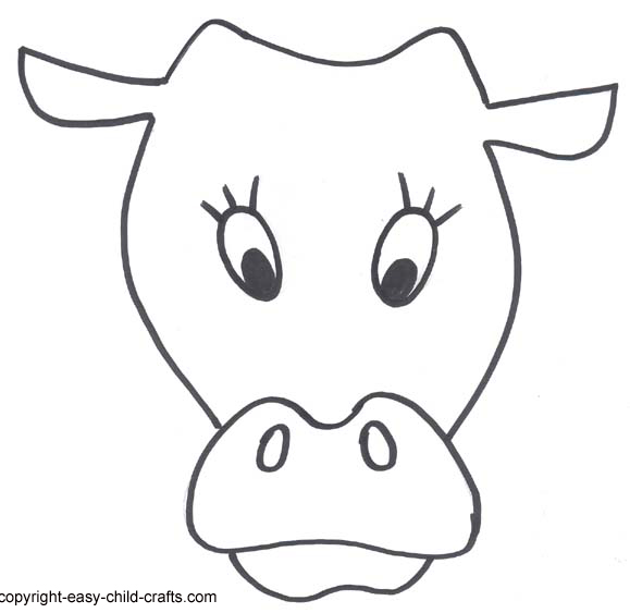 This is a photo of Free Printable Cow Mask in domestic animal
