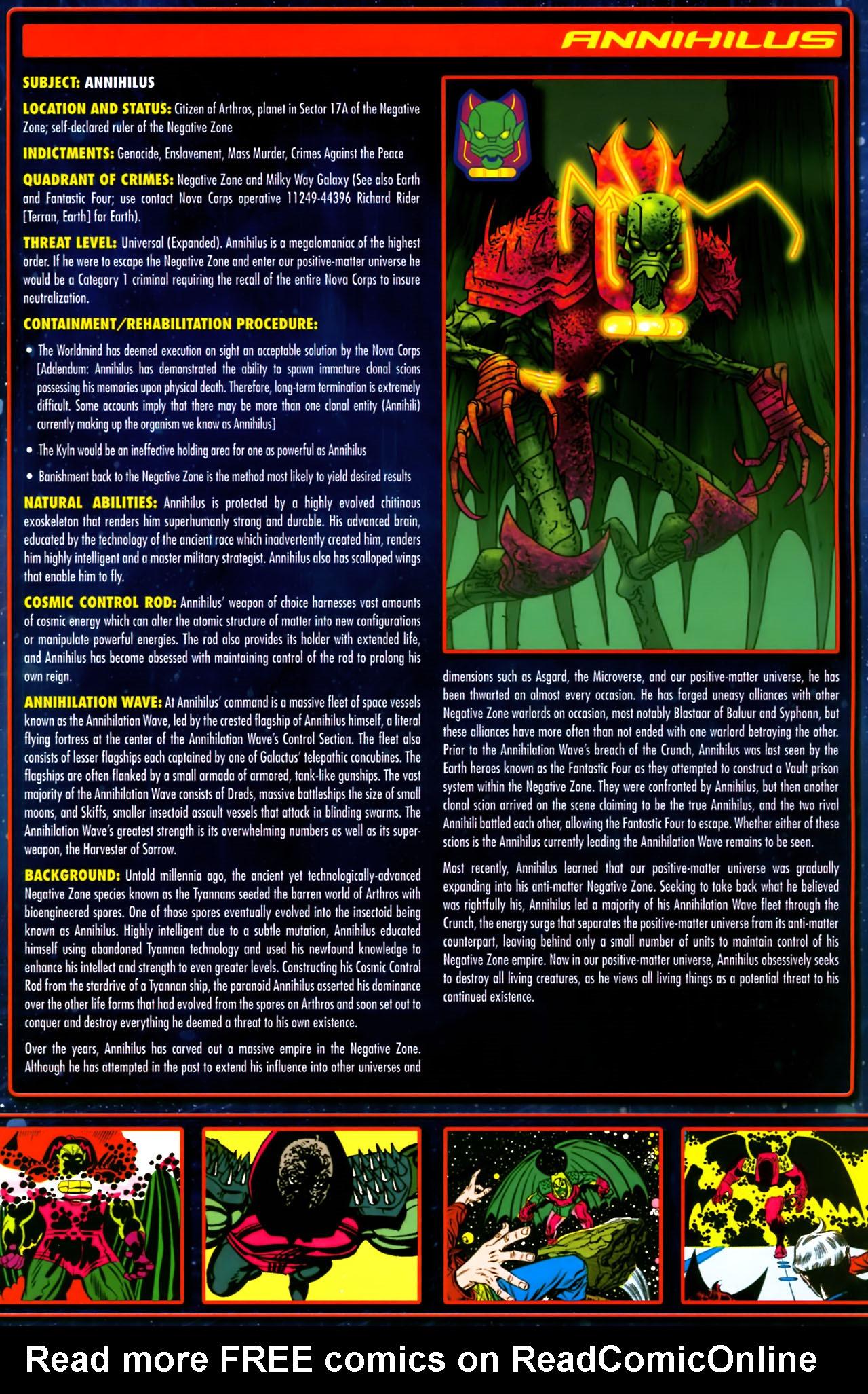 Read online Annihilation:  The  Nova Corps Files comic -  Issue #Annihilation:  The  Nova Corps Files Full - 5