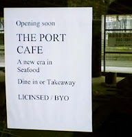The Port Cafe: opening at Chaffers Dock 'soon'