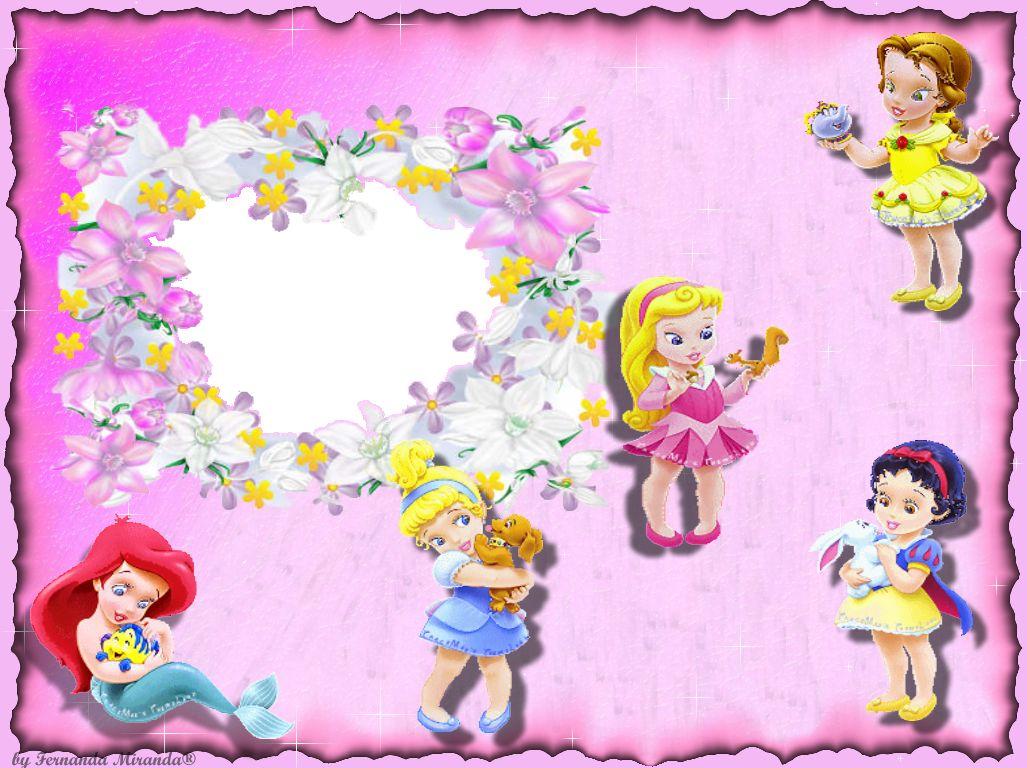 Wallpapers Fofo Cutes As Princesas Beb 234 S Da Disney Antique Wallpaper