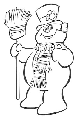 free printable rudolph or frosty coloring pages | Patrick Owsley Cartoon Art and More!: February 2007