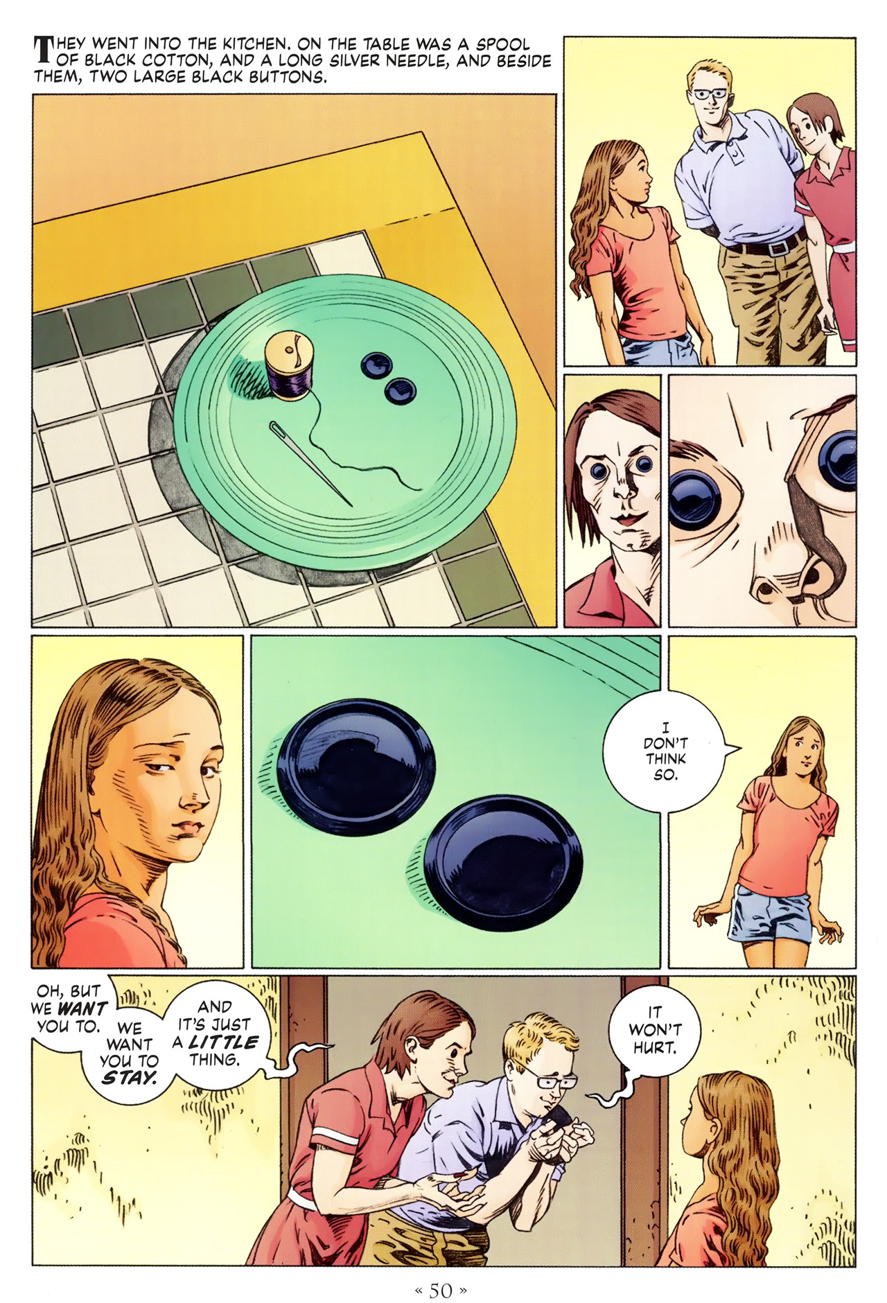 Read online Coraline comic -  Issue #1 - 56