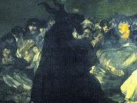 O grande bode ou bruxas em Sabbath (detalhe)Goya,(1821-23)