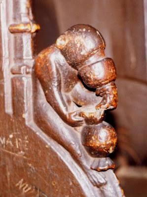 macaco beberrão, cadeiralda sé do Funchal, c. 1515