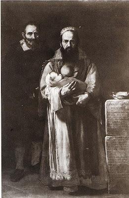 José de Ribera,Magdalena Ventura com o marido e o filho,1631