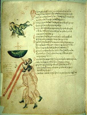 Saltério de Chludov, meados do século IX,(Moscow, Hist. Mus. MS. D.29)