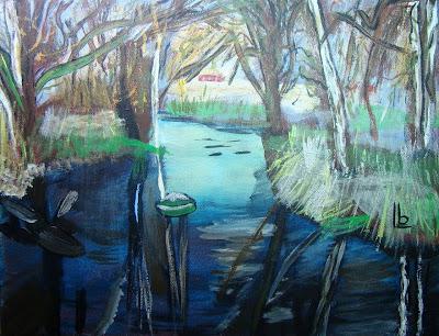 Creek Reflections by Beckie Saar Leone