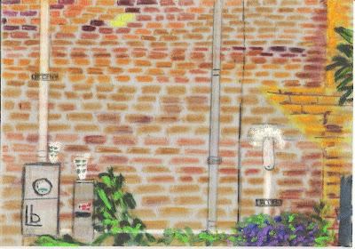 Brick Wall by Beckie Saar Leone