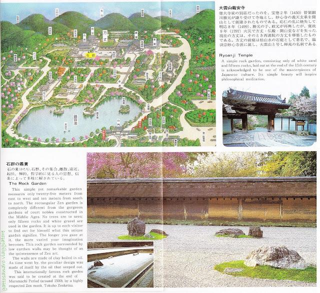 Ryoanji Temple Map