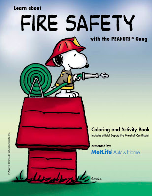 covertress: Peanuts Coloring Book: Fire Safety
