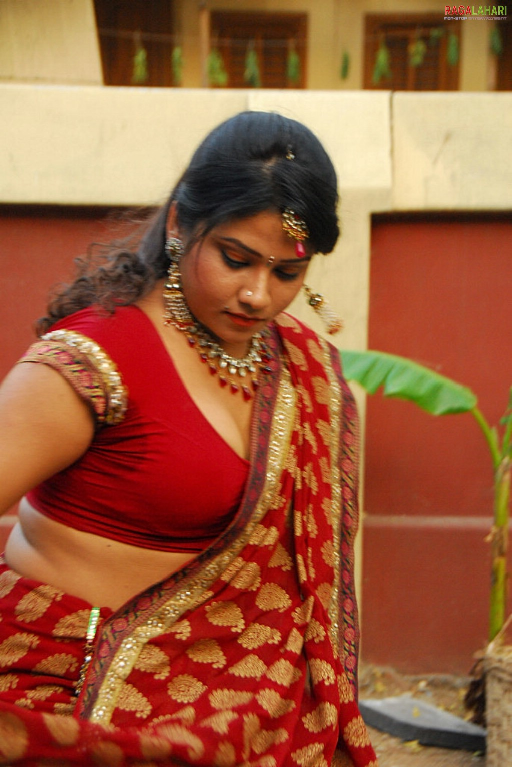 Big Boob Aunties Jyothi Hot Clevage And Boob Show In Saree-4707