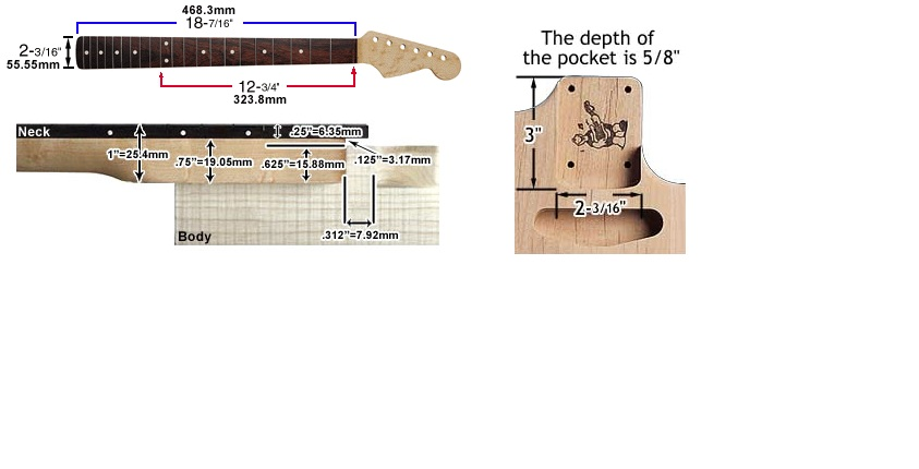 Telecaster Neck Template