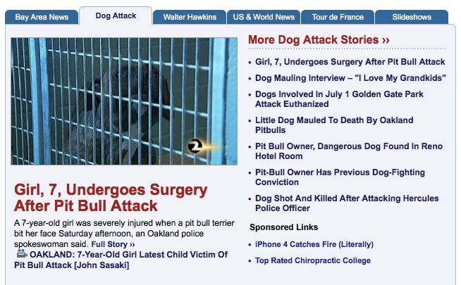 David Downey Reports That Dog Attacks Have Been So Epidemic In The Bay Area During These Days A Local TV News Website Has Separate Section To