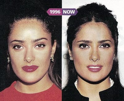 Salma Hayek Plastic Surgery Before and After
