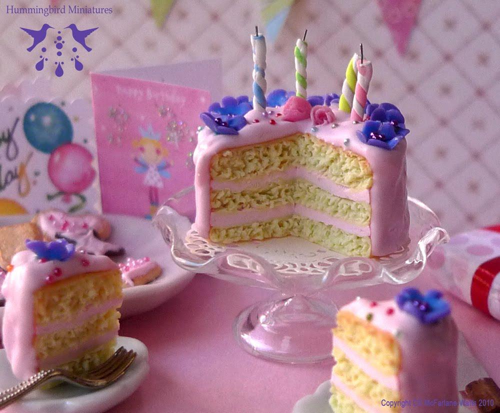 Flowers Sparkles Birthday Cake