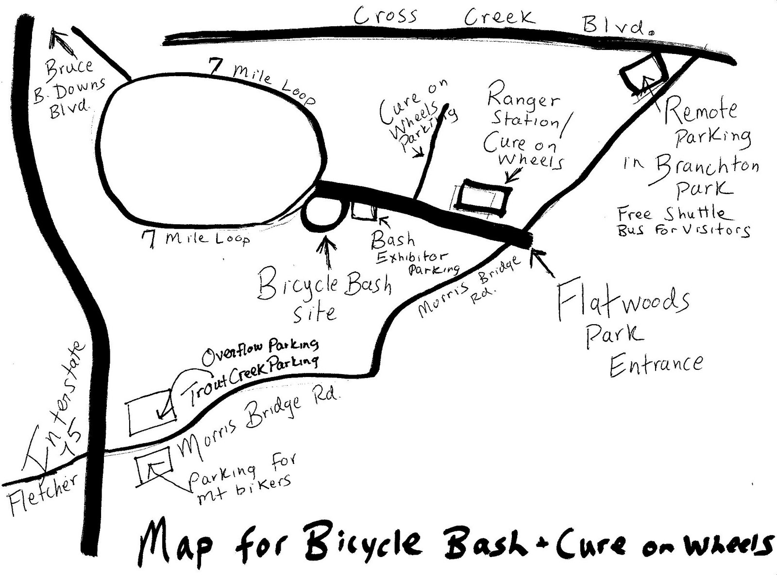 Swfbud South West Florida Bicyclists United With Dealers Bicycle Bash Map