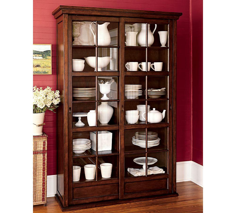 Pottery Barn Cabinets: Race Through Time: Garrett Glass Cabinet