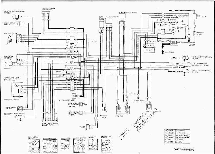 honda tg50 wiring