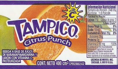 jugo de limon informacion nutricional