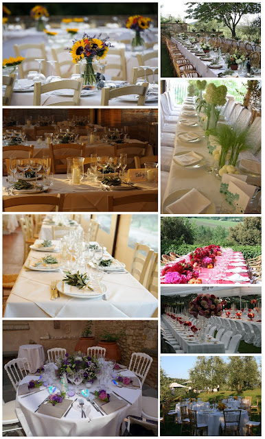 Weddings in Tuscany: Tuscan Style Table Settings