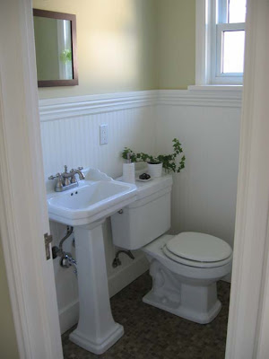 Remodelaholic complete half bath remodel guest for Bathroom ideas 5x5
