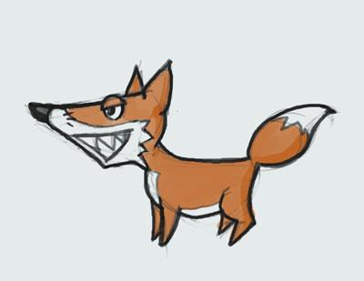 learn how to draw animal cartoon fox step by step video