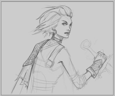 How to draw female thief fantasy style