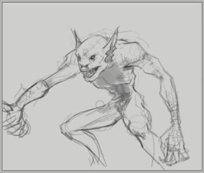 How to draw Goblin creature monster fantasy concept step