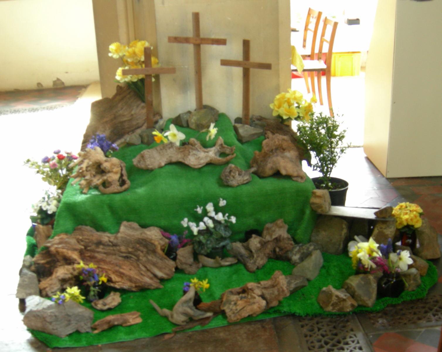 21st Century Pilgrim Easter Garden