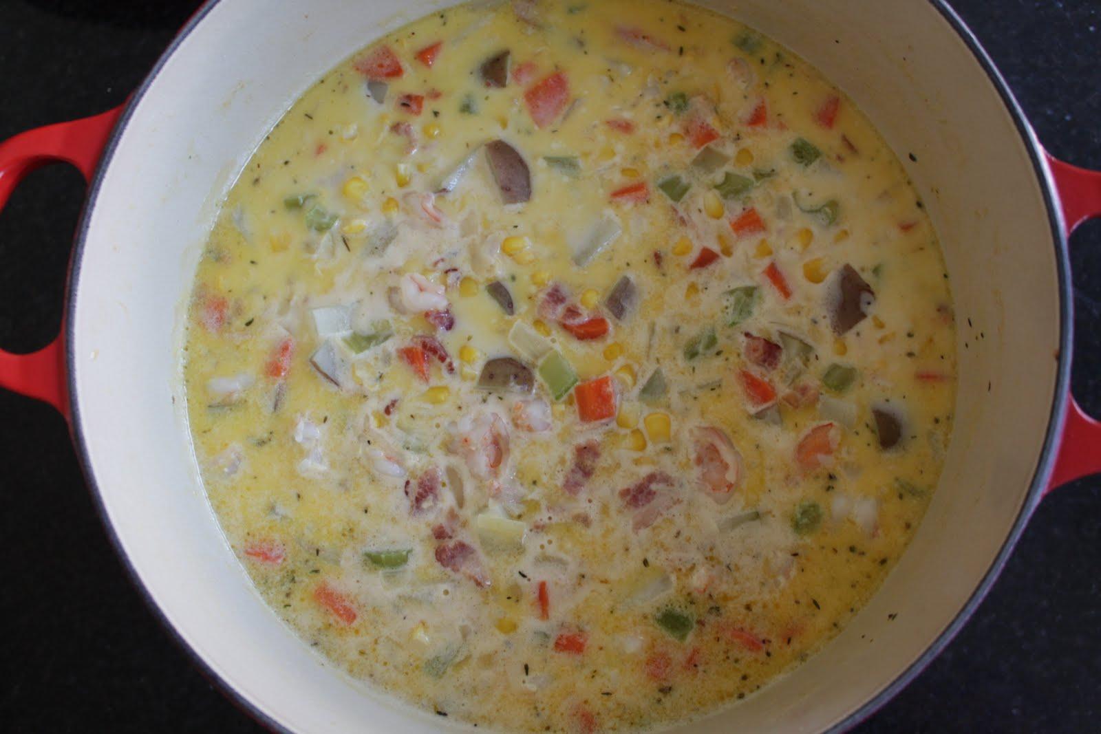Malisa's Food Blog: Shrimp Corn Chowder