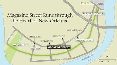 Magazine Street New Orleans Map.Jeff S Things To Do Around Nola Part 1 Magazine Street Tulane