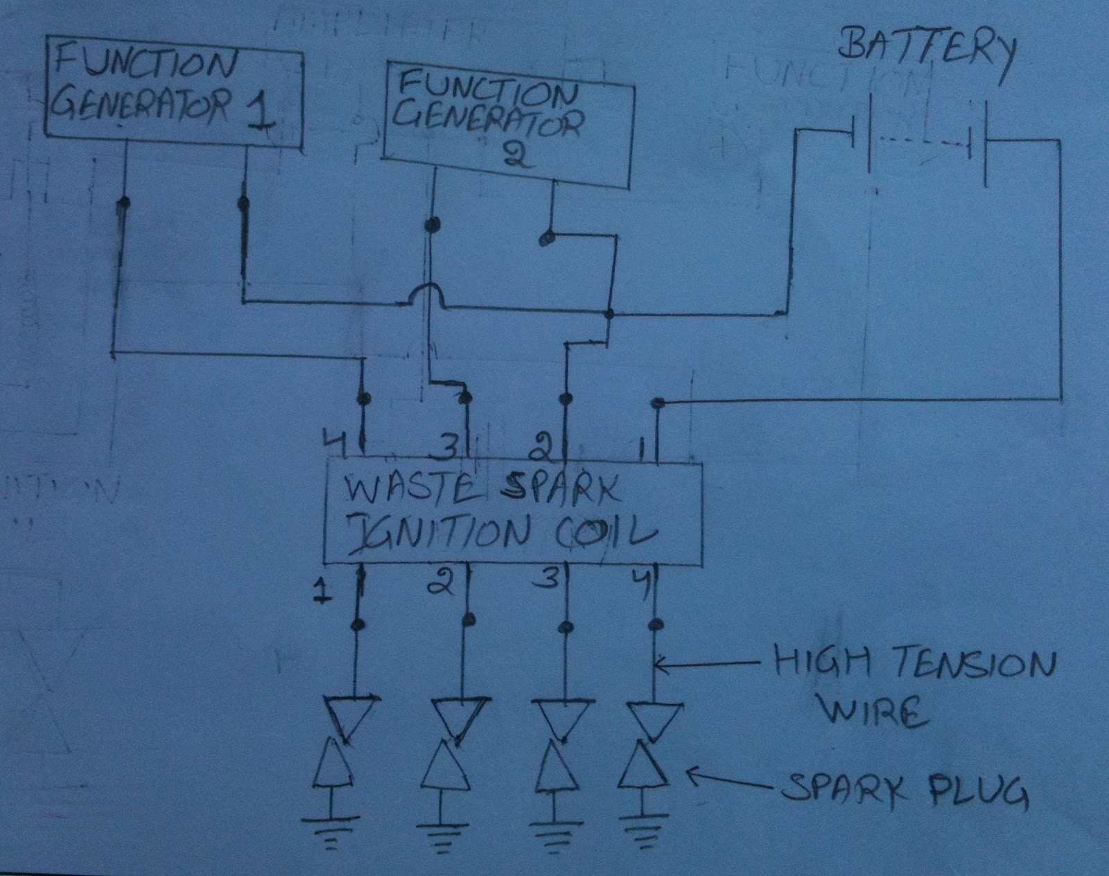 Waste Spark Coil Wiring Diagram Library 1991 350sdl Engine Draw A Of How You Wired The Circuit Wire Up Over