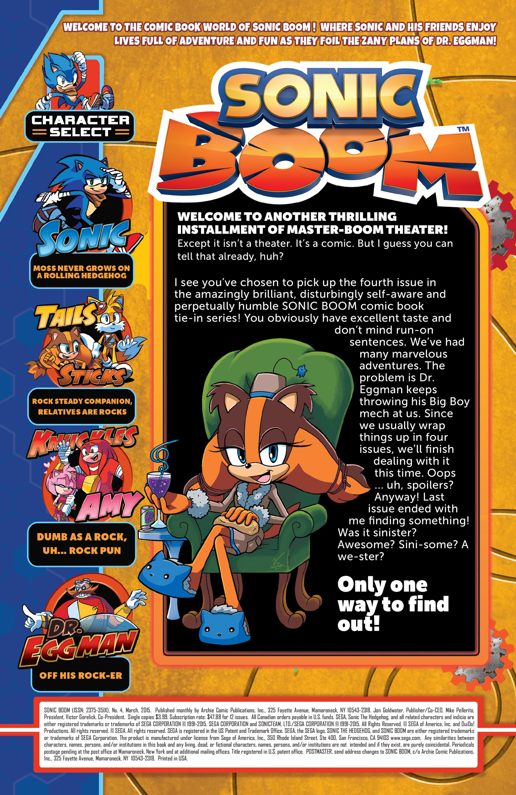 Read online Sonic Boom comic -  Issue #4 - 2