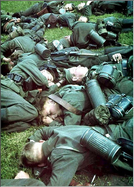 german soldiers resting belgium 1940 may