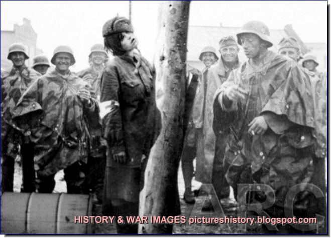 Fake doctored images German brutality russia ww2