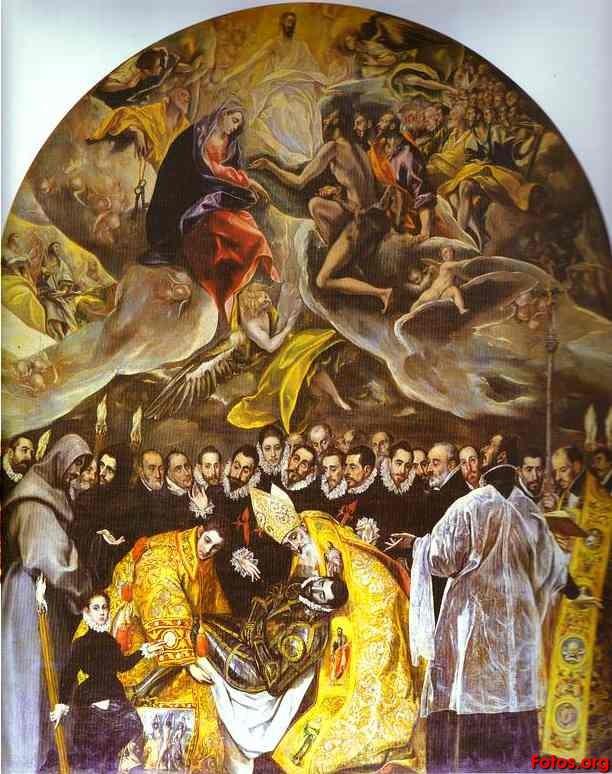 San Tan VW >> BENARTE: Comentario sobre El entierro del Conde de Orgaz ...