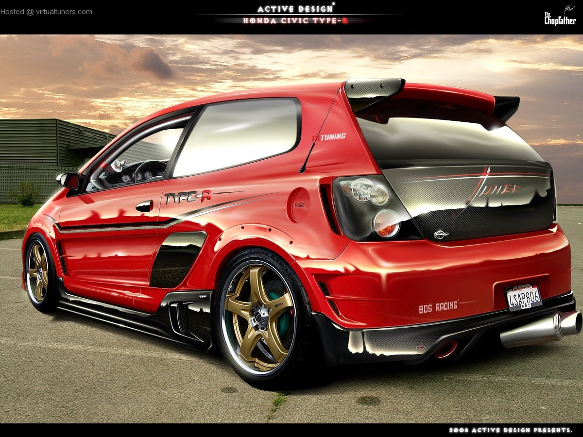 honda civic r type tuning pics. Black Bedroom Furniture Sets. Home Design Ideas