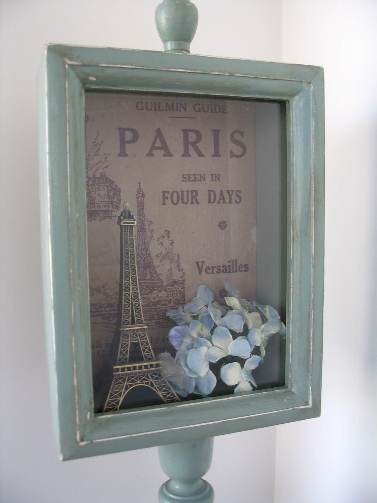 My Shabby Chateau Parisian Themed Shadow Box Project