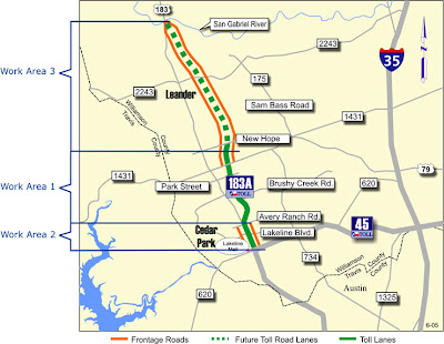 Austin Mojo - Tolls in the News: Another section of 183A ... on grand parkway toll road, tx 130 toll road, hardy toll road,