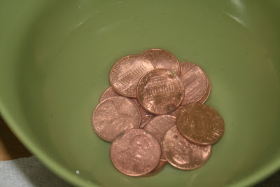 how to clean dirty pennies