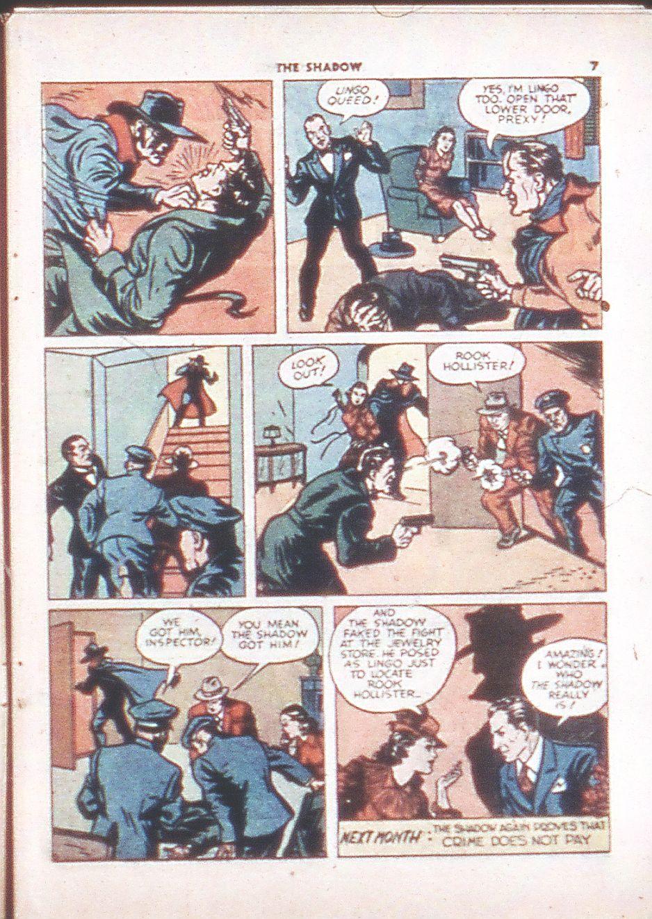 Read online Shadow Comics comic -  Issue #6 - 9