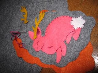 Jackalope Embroidery