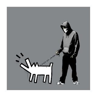 Banksy Choose Your Weapon Print Grey