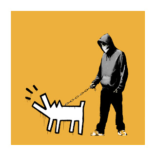 Banksy Choose Your Weapon Print Light Orange