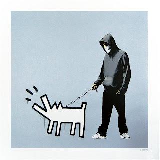 Banksy Choose Your Weapon Print Silver