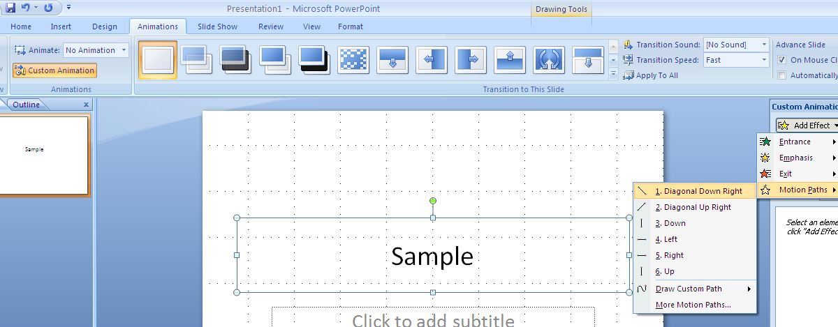 PowerPoint Info: Motion Path Animations: Latest PowerPoint