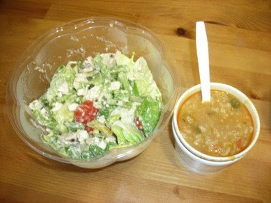 chicken salad and asian chicken soup