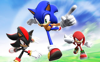 Sonic And His Friends wallpaper